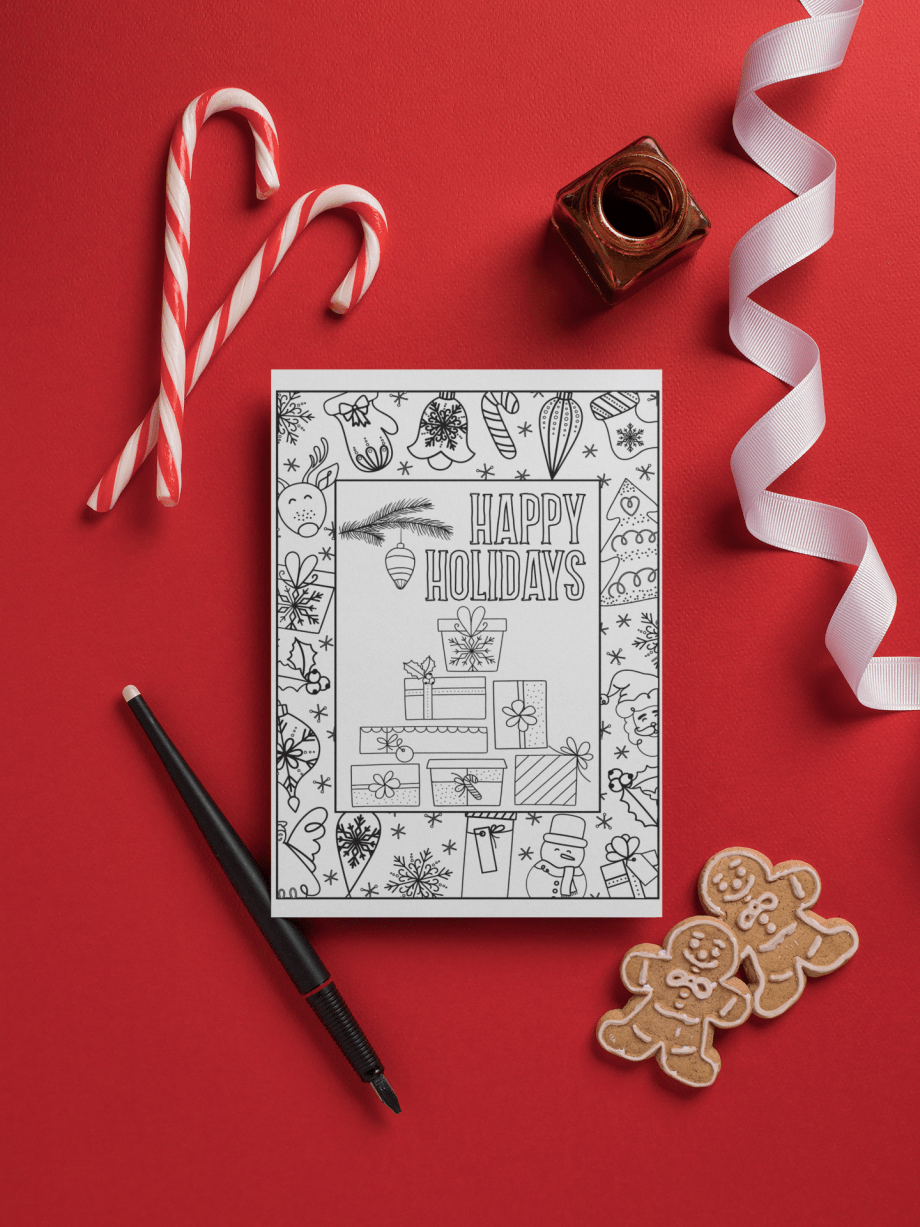 Create And Color Christmas Cards