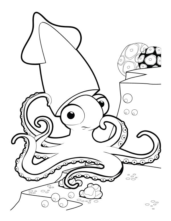 Squid Coloring