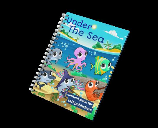 Mockup Under The Sea Activity Book