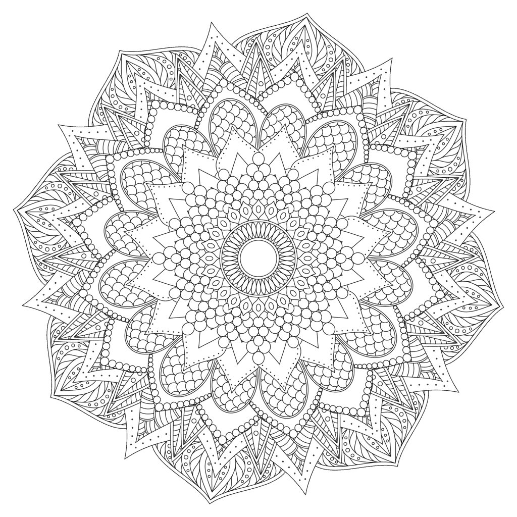 Zen Mandala Large Detail